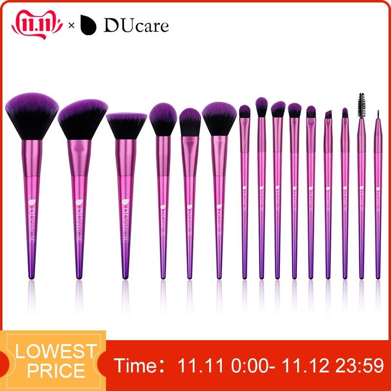 DUcare Makeup Brushes 15PCS Professional brush set Eyeshadow Foundation Powder Brush Make Up Cosmetic Tools