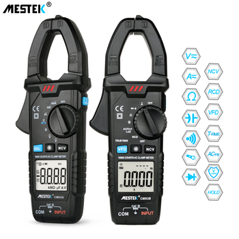 MESTEK Digital Clamp Meter 600A AC Current  AC/DC Voltage Ohm True RMS Auto Range VFD Capacitance NCV Tester Ammeter Multimeter multimeter ammeter voltmeter wattmeter ac 80 260v 0 100a lcd digital display current voltage power energy meter