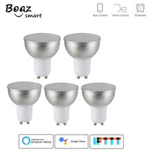 Boaz-EC GU10 Smart Wifi bulb Dimmable RGBW Spot light Tuya APP control voice control work with Alexa Google home 5 pcs