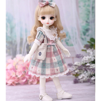 1/6 30cm Cute Ball Joints Dolls Makeup BJD Dolls with Macaron Full Costume and Brown Eyes Fair Skin Color