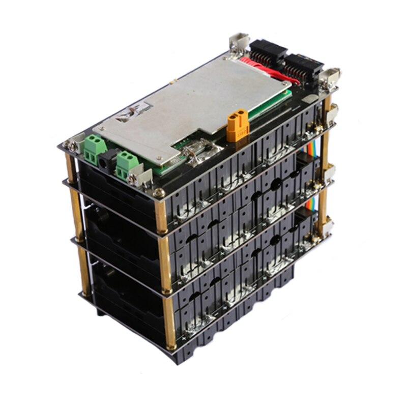 48V 13s power wall 18650 battery pack 13S bms Li ion Lithium 18650 battery holder BMS