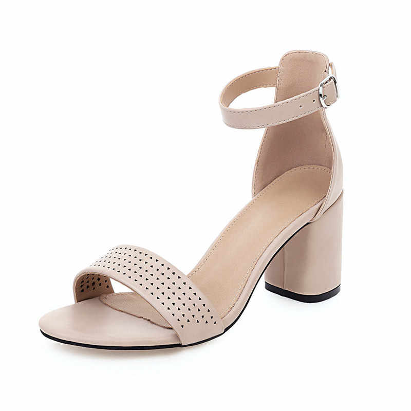 FEDONAS kadınlar marka tasarım Lace Up yüksek topuklu toka çapraz bağlı sandalet mikrofiber terlik klasik ayakkabı yaz ayakkabı kadın