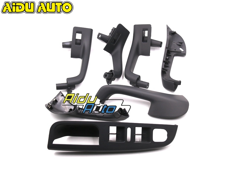 FREE SHIPPING 7 PCS Set  FOR VW Golf 5 Jetta MK5 Interior Door Handle LHD