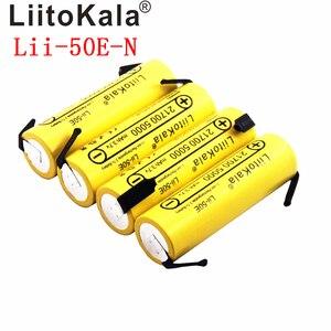 Image 3 - Liitokala bateria li ni Lii 50E 21700 5000 mah, 3.7 v 40a para alta descarga mod/kit 3.7 v 15a potência + diy nicke