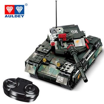 AULDEY 430pcs City tank Racing Car Remote Control Technic RC Car Electric truck Building Blocks bricks Toys For Children gifts motorized 20005 technic car series remote control vehicle rc truck model building blocks bricks compatible with 42043 kids toys