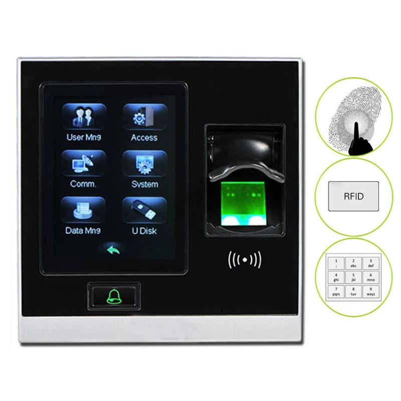 ZK SF400 TCP/IP USB биометрический контроль доступа по отпечаткам пальцев, автономный регистратор времени посещаемости, умная система управления дверью-0