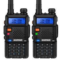 2 pièces Baofeng UV-5R talkie-walkie UV5R CB Station de Radio 5W 128CH VHF UHF double bande UV 5R Radio bidirectionnelle pour chasse jambon Radios