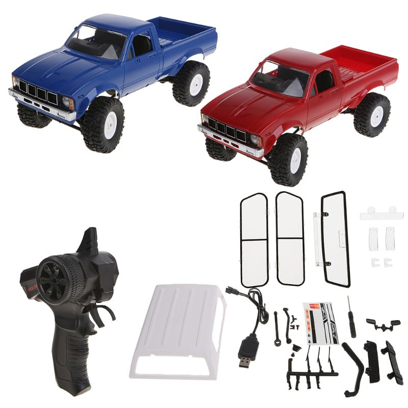 WPL C24 RC Car 1:16 4WD Remote Control 2.4G Crawler Off-road Buggy Moving Machine Kids Gift