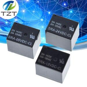 Image 1 - Relè di potenza 50PCS SRA 05VDC CL SRA 12VDC CL 5V 12V 24V 20A 5pin T74 5pin CMA51 HFKW DC Mini relè di potenza