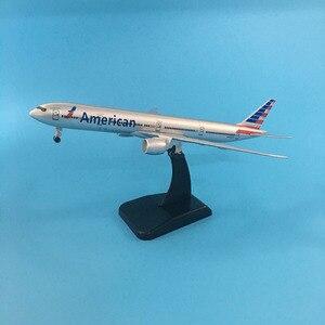 Image 1 - 20ซม.American Airlinesโบอิ้ง777เครื่องบินสหรัฐอเมริกาB777เครื่องบินรุ่น16ซมโลหะเครื่องบินDiecastรุ่นของเล่น