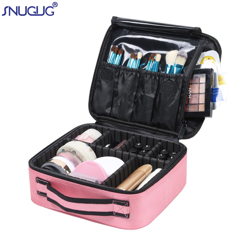 New Makeup Case Professional Beauty Brush Women Cosmetic Suitcase Waterproof Make Up Organizer Travel Storage Bags For Manicure title=