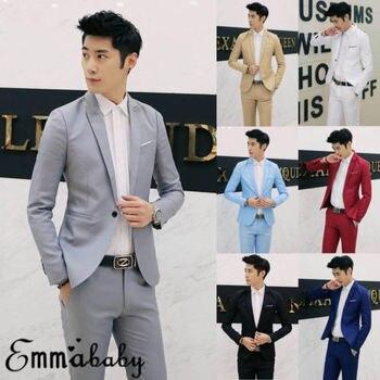 New Mens Classic Fashion Formal Business Suit Blazer Slim Fit Luxury Coat Jacket Plus Size