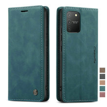 Retro Business Wallet Case for Samsung S10 Lite Shockproof Auto Magnetic Close Flip Case for Samsung Galaxy S10 Lite Cover Etui