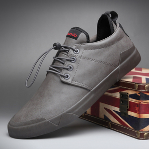 Image 3 - جديد الرجال العصرية أحذية لوفر عادية النمط البريطاني الرجال مصمم أحذية رياضية للرجال تنفس شريط مرن بولي Leather جلد حذاء رياضة شقة