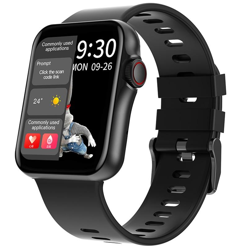 Умные часы D06, большой сенсорный экран HD, спортивный трекер, поддержка звонков по Bluetooth, пульсометр, ЭКГ, воспроизведение музыки