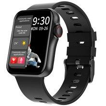 D06 Polegada grande tela cheia de toque hd relógio inteligente esporte rastreador suporte bluetooth chamando freqüência cardíaca bp ecg com bt reprodução música