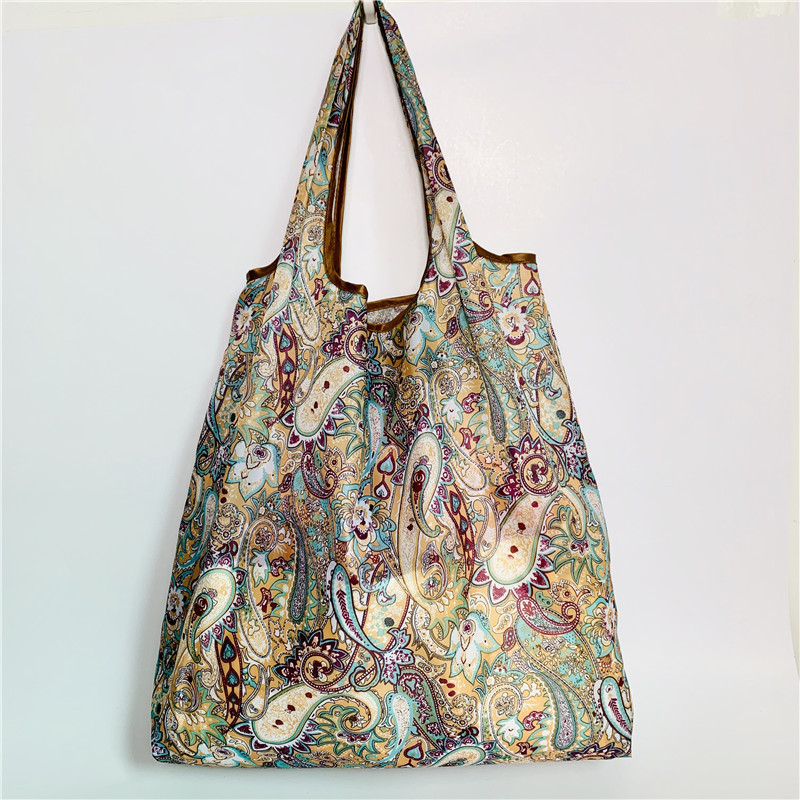 Save Big Sales Only One SHoping Bag With Color Eco Reusable Shopping Tote Bag Cartoon Floral Fruit Vegetable Grocery