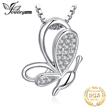 JewelryPalace 925 Sterling Silver Pendants Necklace Cubic Zirconia Butterfly Pendants Without Chain Fashion Women Girls Jewelry jewelrypalace authentic 925 sterling silver pendants necklace crown wings honey bee pendant without chain cubic zirconia jewelry