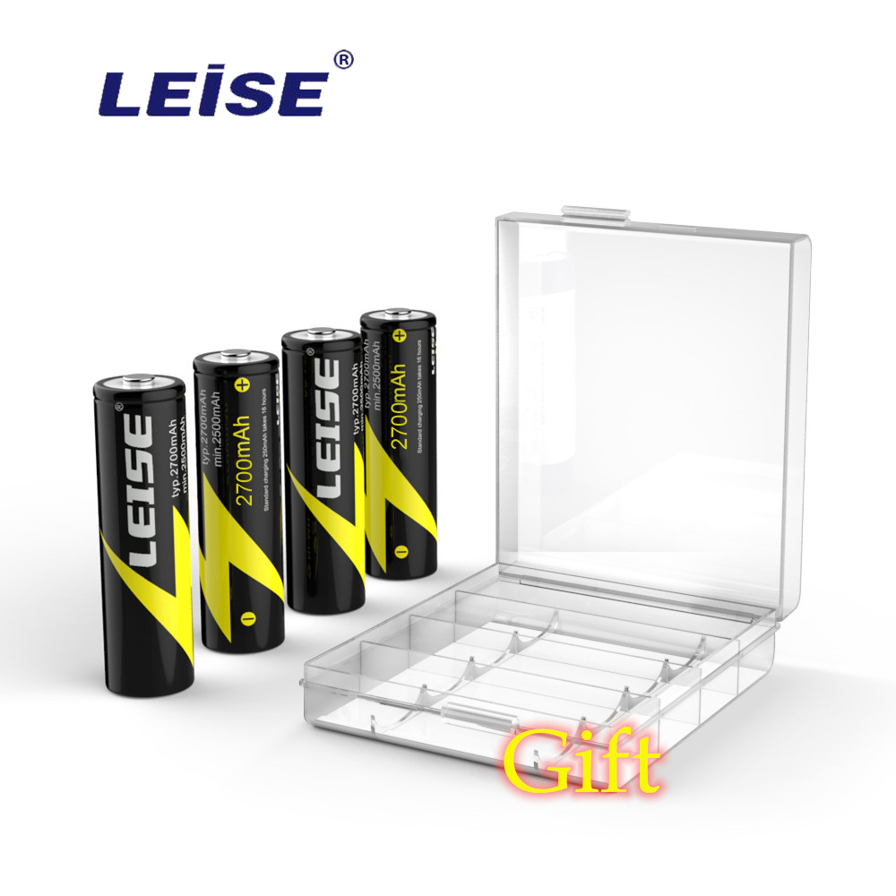 LEISE AA 2700mah Nimh Rechargeable Battery 1.2v With Battery Case Rechargeable Batteries 2a NI-MH For RC Toys Mouse Microphone