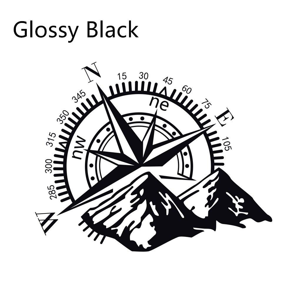 Боковые наклейки для автомобильной двери, виниловая пленка, авто украшение, наклейка для водонепроницаемого внедорожника, Ford Chevy, Стайлинг, автомобильные тюнинговые аксессуары - Название цвета: Glossy Black