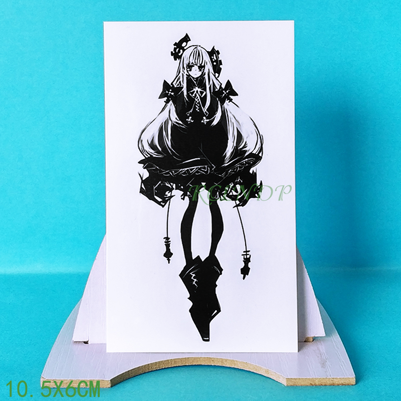 Waterproof Temporary Tattoo Sticker Japanese Anime Girl Tatoo Fake Tatto Flash Tatouage Temporaire Wrist Leg Tatoos For Women