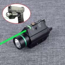Тактический охотничий фонарь красный зеленый лазерный прицел
