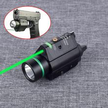 Outdoor Hunting Light Tactical Fleshlight M6 LED Flashlight Combo Green/Red Laser Sight For Rifle Scope Fits 20mm Rail security equipment green laser sight and led tactical flashlight combo for hunting