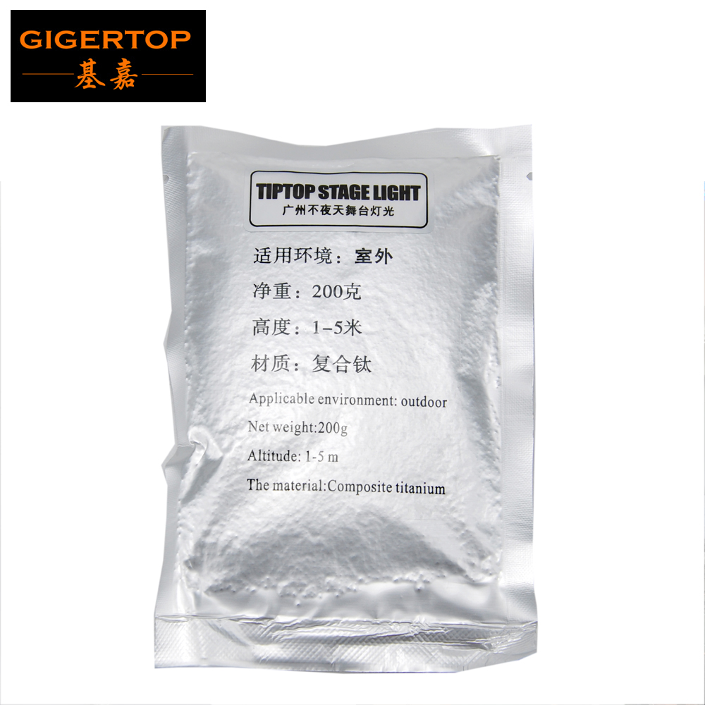 Freeshipping Stage Electric Cold Spark Fireworks Powder 200G/Bag For Wedding Party Effect Same No Hot No Fire Magnesium Powder