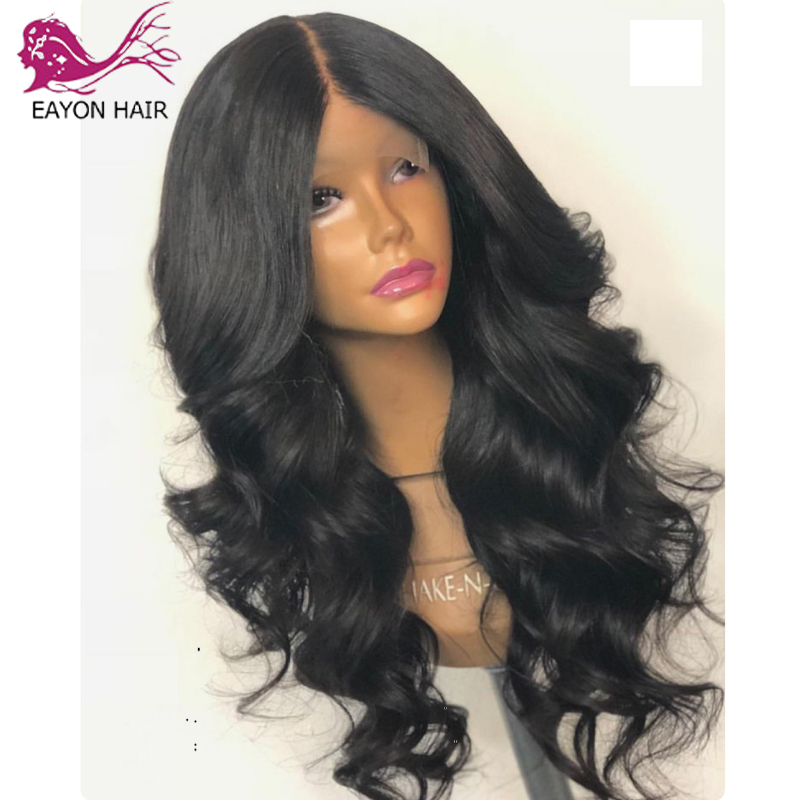 EAYON HAIR Glueless Full Lace Human Hair Wigs Loose Wave Remy Wigs For Black Women With Baby Hair 130% Density Brazilian
