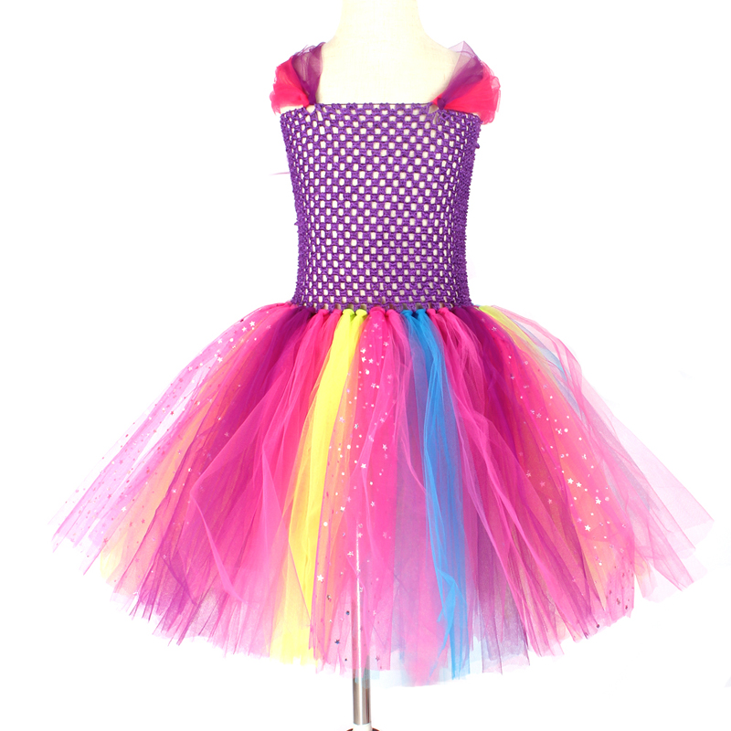 Girls Butterfly Fairy Fancy Tutu Dress Wings Costume Kids Princess Birthday Party Dress Halloween Cosplay Kids Spring Tulle Dress (12)