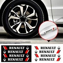 4Pcs Car Styling Creative Car Door Handle Decals Design Stickers Vinyls For Renault Twingo