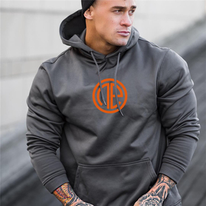 Image 1 - Mens Fashion fitness coat Singlets Sweatshirts Mens Hoodies Stringer Bodybuilding Fitness Shirts Suitable For Autumn