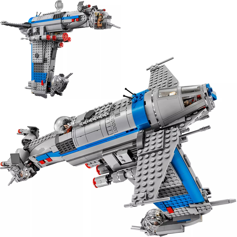 873Pcs 5129 Rebel Bomber Set Genuine Star Toys Wars Classic Series Building Blocks Bricks Compatible with Legoed Toys <font><b>75188</b></font> image