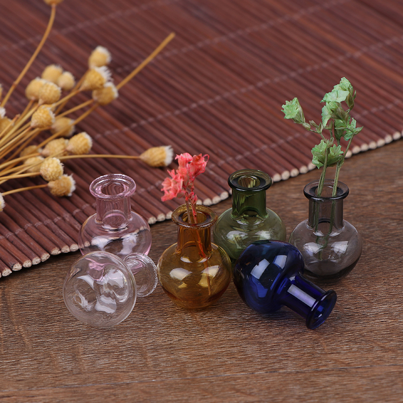 6 Style For Dollhouse Furniture Miniatures Glass Jug Glass Pot Vase 1/12 Scale Kitchen Toy