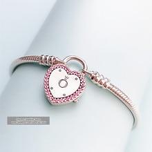 2020 Fashion Jewelry 100% 925 Silver charm Bracelet for Women bracelets bangle Jewelries Pulseira Gift,1pz ztung hb20 charm bracelets classic 925 sterling silver have many color for women s girls wonderful gift jewelry bangle