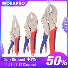 "WORKPRO 3PC Locking Pliers Welding Tools Pliers Set 7"" 10"" Curved Jaw Pliers 6 1/2"" Straight Jaw Pliers"