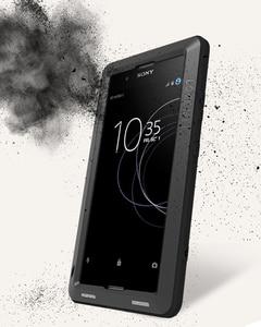 Image 4 - Etui na całe ciało do Sony Xperia XA1 Plus Ultra XZ XZ1 XA2 XA Ultra 2, odporna na wstrząsy metalowa osłona na zbroję do Sony XA Case + szkło Gorilla