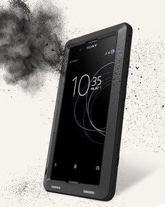 Image 4 - Funda completa para Sony Xperia XA1 Plus Ultra XZ XZ1 XA2 XA Ultra 2, carcasa armadura de Metal a prueba de golpes para Sony XA Case + Gorilla Glass
