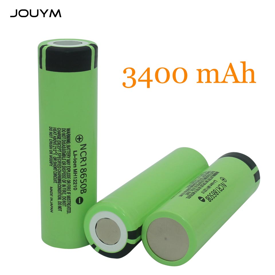 JOUYM Original <font><b>18650</b></font> Battery <font><b>NCR18650B</b></font> 3.7 v 3400mah <font><b>18650</b></font> Li-ion Rechargeable Battery image