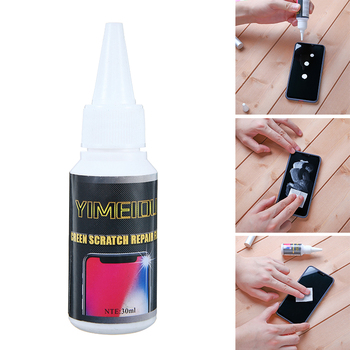 For Phone Screen Adhesive Set 1pc 30ml Glass Polish Scratch Remover Cell Phone Screens Watches LCD Display Repair Liquid Pohiks