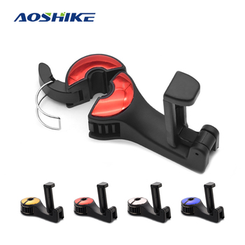 AOSHIKE Car Hooks Car Seat Back Hooks with Phone Holder Universal Vehicle Car Headrest Hooks Hanger with Lock and Phone Grocery e four car coat hanger car abs seat back clip clothes suit jacket slip hanger fashion car vehicle fastener back seat coat hanger