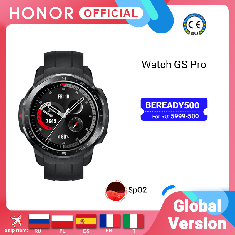 Global Version Honor Watch GS Pro Smart Watch SpO2 Smartwatch Heart Rate Monitoring Bluetooth Call 5ATM Sports Watch for Men Smart Watches  - AliExpress