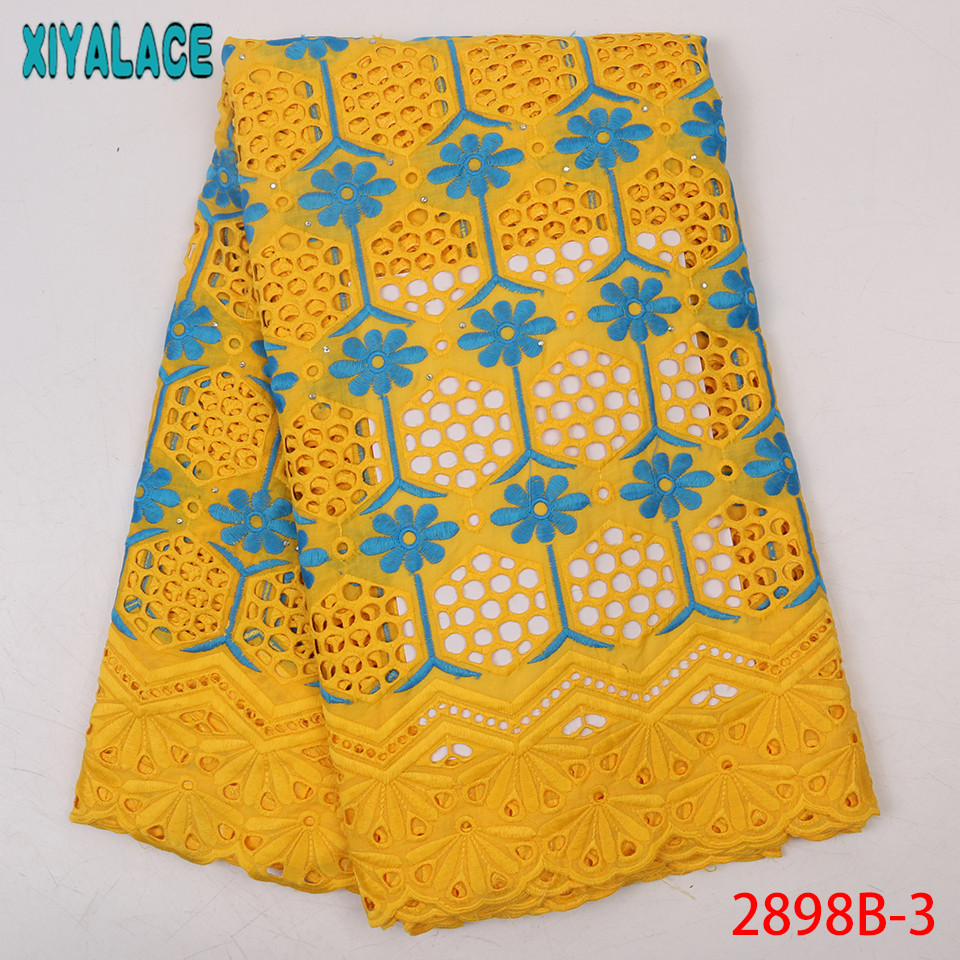 Hot Sale Colorful Cotton Lace,High Quality Swiss Cotton Dry Lace,Fashion Fabric Lace For Women KS2898B-3