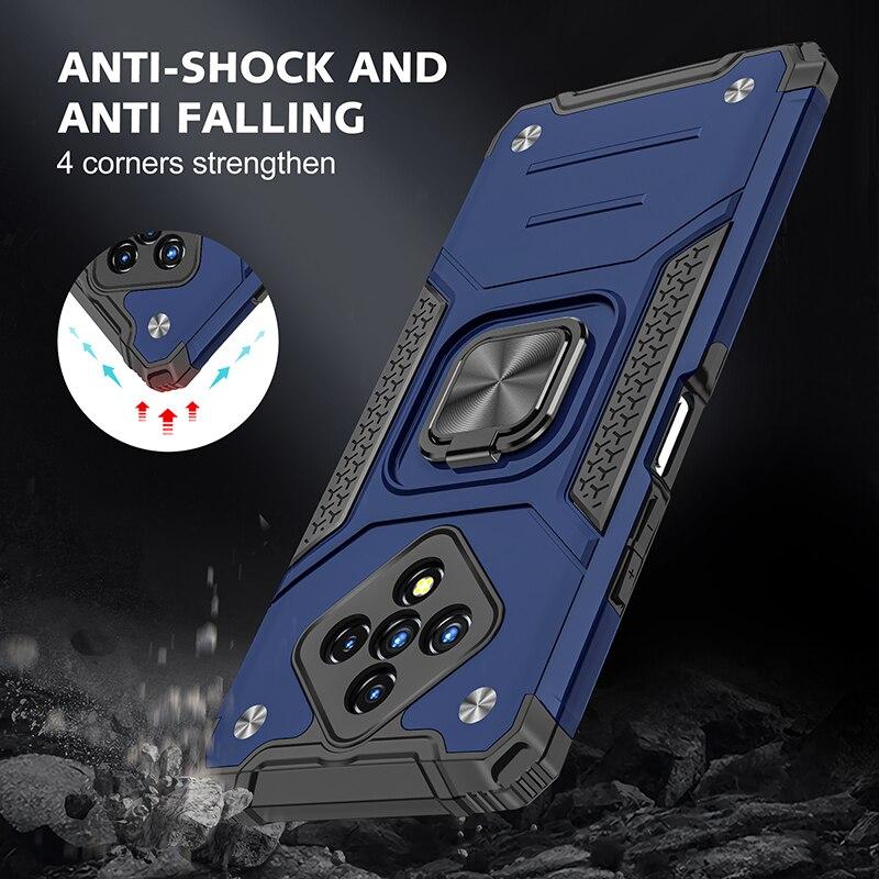 Coque de téléphone rigide antichoc en TPU avec anneau magnétique, pour Infinix Zero 8 8i Hot 9 10 Play Note 7 Lite Smart 4