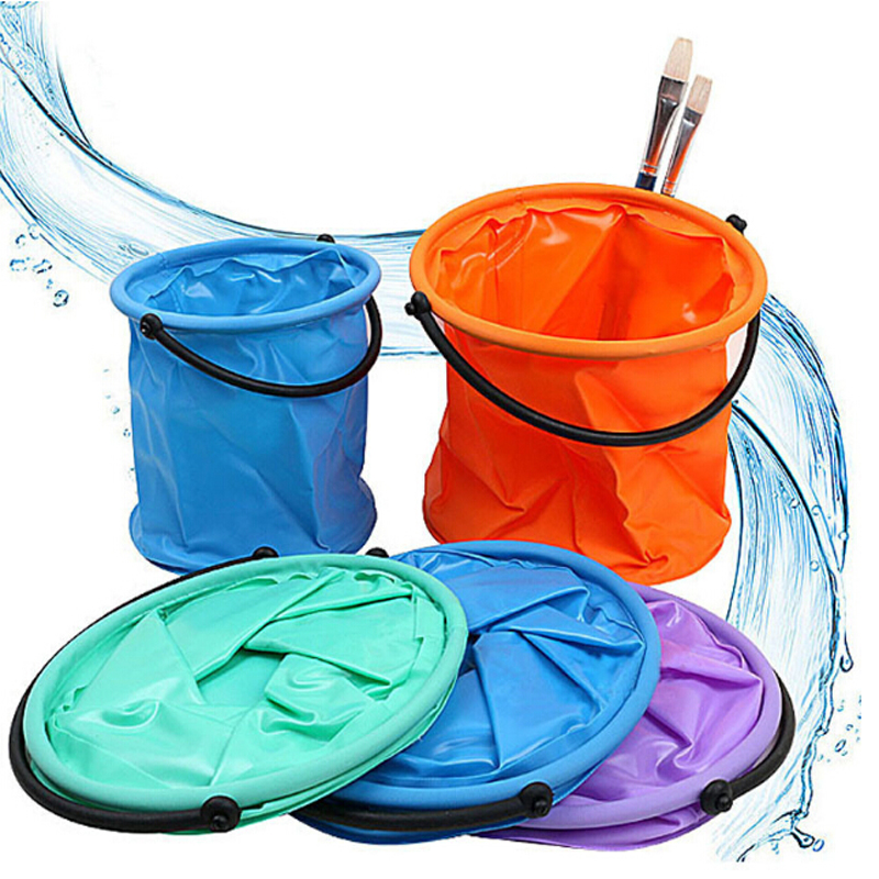 Waterproof Portable Folding Bucket Convenient Art Painting Canvas Wash Bucket Travel Camping Tool Cleaning Travel Wash Bag