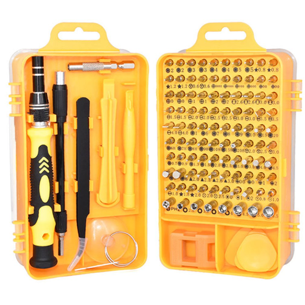 115 In 1 Precision Screwdriver Kit Accessory Set CR-V Steel Mini DIY Hand Work Repair Tools For IPhone Laptop PC Watch