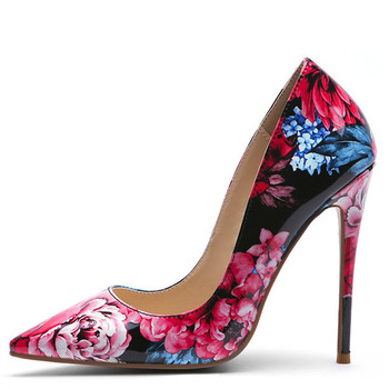 YECHNE Sexy Women's High Heels Shoes Woman Wedding Shoes Patent Leather Pointed Toe Stripe Bride Valentine Heels Shoes Green