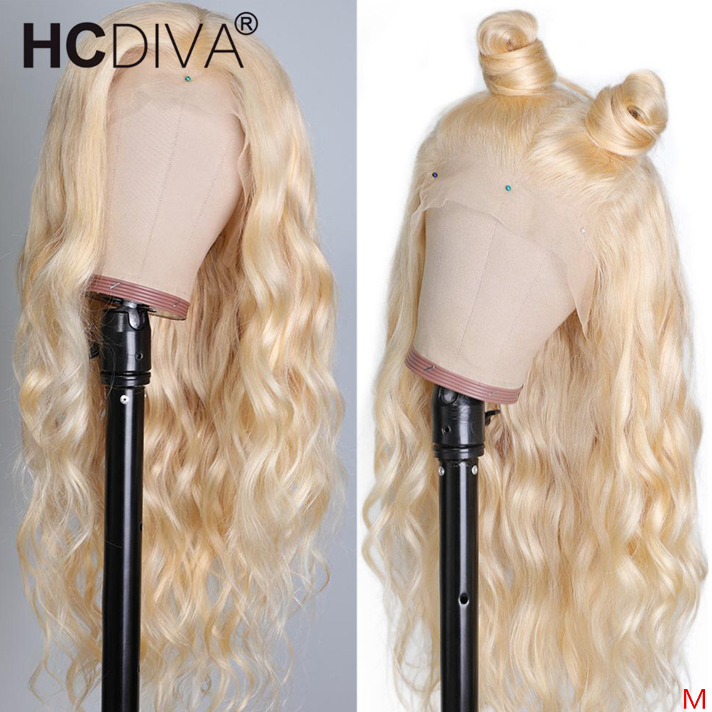 613 Blond Lace Front Wig 13*4 Lace Front Human Hair Wig 150% Body Wave 360 Lace Front Wig With Baby Hair For Black Women