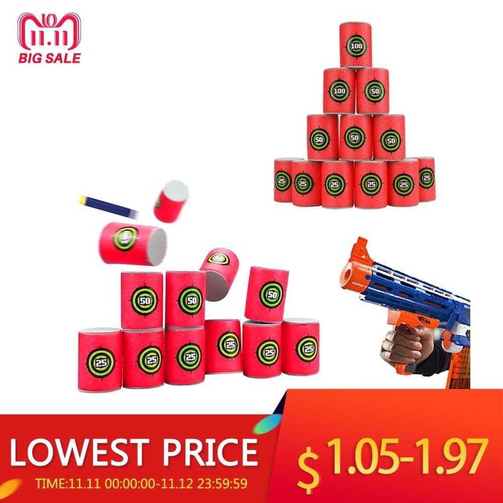 12Pcs /set Foam EVA Soft Bullet Dart Shoot Target Toy For NERF N-strike Blasters Toy Gun Accessories