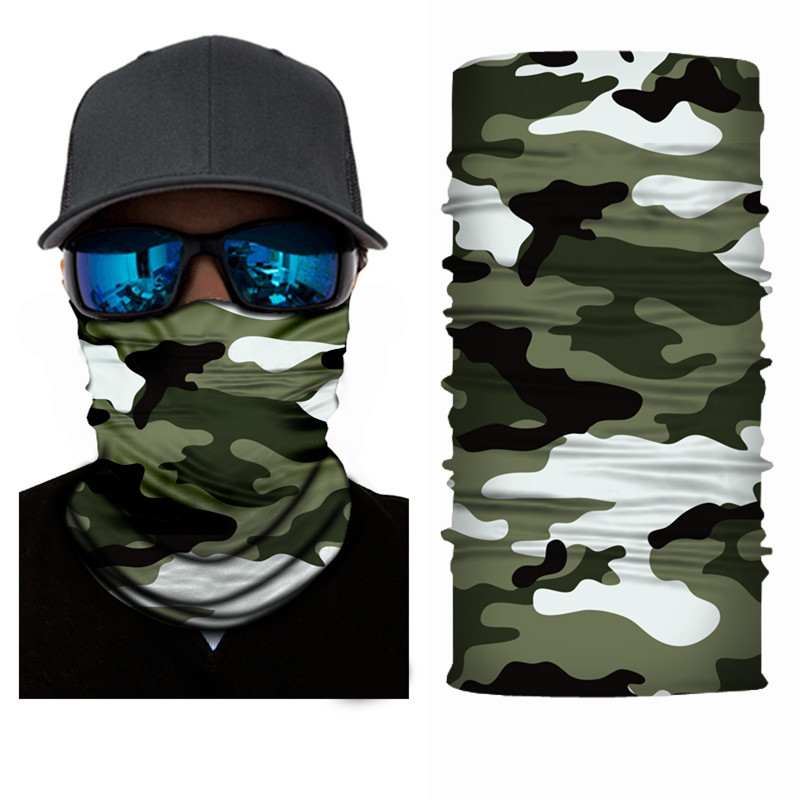 High-Jump Camouflage Hiking Scarf 100% Polyester Windproof Neck Face Mask Anti UV Army Tactical Terrking Bandana Scarf Pipe